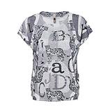 Shirt im Alloverprint, grau
