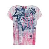 Shirt im Allover-Design, rosenholz/ blau