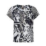 Shirt im Animal-Design, khaki