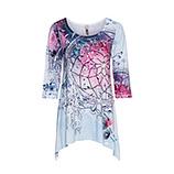Langarm-Shirt im Alloverprint, eiskristall