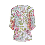 Bluse im Floral-Print, weiß