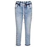 Schlupf-Jeans mit Nieten, light blue