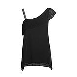 Shirt Off-Shoulder, schwarz