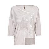 Shirt mit Stern-Patch, silber