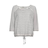 Shirt mit 3D-Struktur, silber