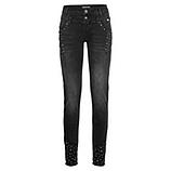 Jeans Doppelbund, black denim