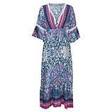Maxi-Kleid im Alloverprint, blau