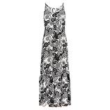 Maxi-Kleid im Alloverprint, schwarz-weiß
