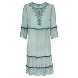 Kleid mit Volants, sea salt