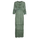 Maxi-Kleid mit Loch-Spitze, khaki