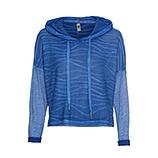 Shirt Vokuhila, blue glow