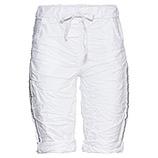 Shorts mit Galonstreifen, weiß