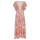 Maxi-Kleid im Boho-Schick, pink salt