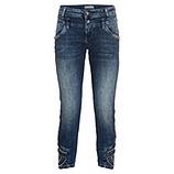 Jeans mit Perlen, dark blue denim