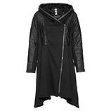 Langer Mantel A-Linie, schwarz
