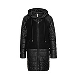 Stepp-Mantel mit Wolle, schwarz