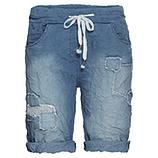 Shorts mit Patch, blue denim
