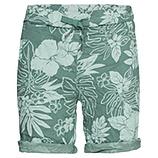 Shorts im floralen Print, sea salt