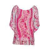 Bluse im Alloverprint, pink glow