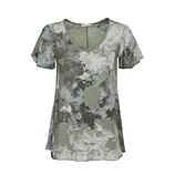 Bluse in Camouflage-Optik, salbei