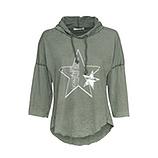 Shirt mit Stern, salbei