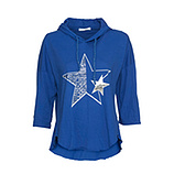 Shirt mit Stern, blue glow