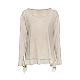 Shirt mit Volant-Saum,  sand
