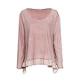 Shirt mit Volant-Saum, pink salt