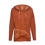Shirt mit Lurex, burnt orange