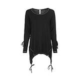 Shirt mit Tunnelzug, schwarz