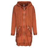 Sweat-Mantel mit Ösen, burnt orange