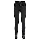 Jeans mit Ziersteinen, schwarz