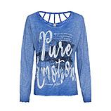 Shirt mit Print, blue glow