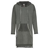 Sweat-Kleid mit Netz, khaki