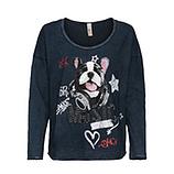 Shirt mit Hund-Motiv, night