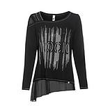 Shirt mit transparenten Einsätzen, schwarz