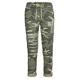 Hose in Camouflage-Optik, salbei