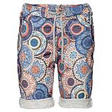Shorts im Alloverprint, blau