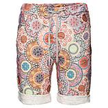 Shorts im Alloverprint, beige/ gelb/ rosa