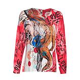 Shirt im Alloverprint, coralflash