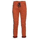 Joggpant in Veggie-Suede-Leder, burnt orange