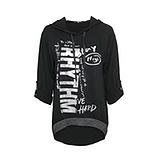 Bluse mit metallic-Print, schwarz