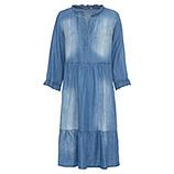 Denim-Kleid mit Volants, blue denim