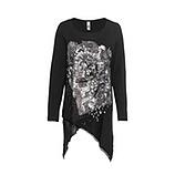 Shirt mit Front-Print, schwarz