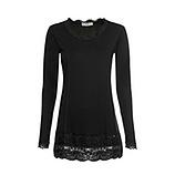 Basic Shirt Viskose, schwarz