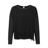 Shirt mit Netzsaum, schwarz