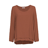 Bluse im Layering-Look, burnt orange