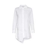 Hemd mit asymmetrischen Saum, weiß
