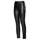 Hose aus Veggie-Leder, schwarz