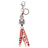 Schlüsselanhänger Buddha, rot